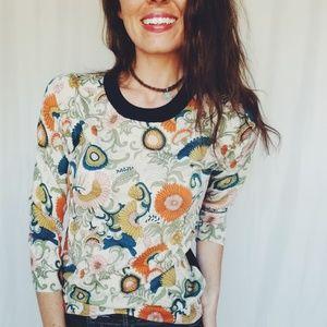 J. Crew floral sweater size medium -B4